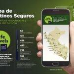 mapa virtual destinos seguros peru safe travels